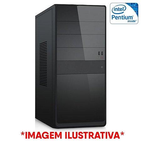 COMPUTADOR CIA CORPORATE III, INTEL PENTIUM G2020, PLACA MÃE H61, MEMORIA 4GB DDR3, HD 500GB, GABINETE BASICO PRETO