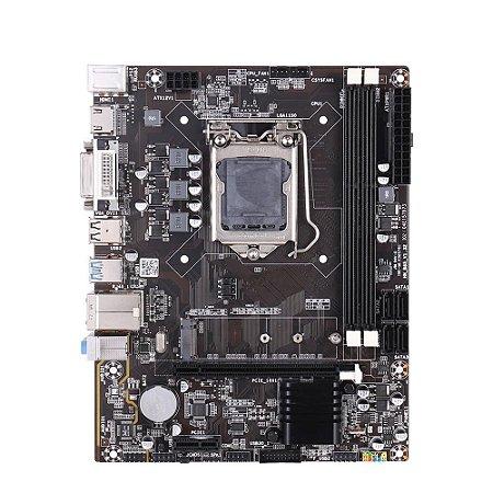 PLACA MÃE Kllisre 1150 B85M MICRO ATX DDR3 VGA HDMI DVI USB 3.0 NVME