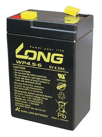 Bateria Selada VRLA 6V 4,5A WP4.5.6 Long