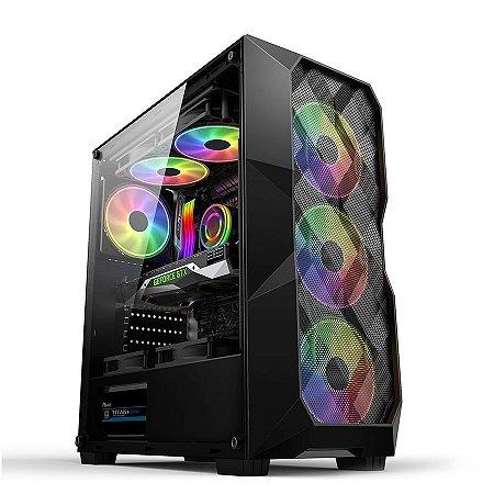 COMPUTADOR GAMER CIA POWER, INTEL CORE I5 10400F, GIGABYTE H410M, MEMORIA 16GB 3200MHZ RGB, SSD NVME 256GB, FONTE 500W REDRAGON, PLACA DE VIDEO RX 570 4GB PCYES