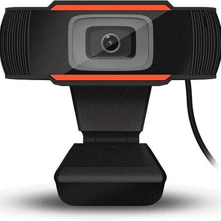 Webcam Knup 1080P KP-CW101 USB Preto Laranja 720P