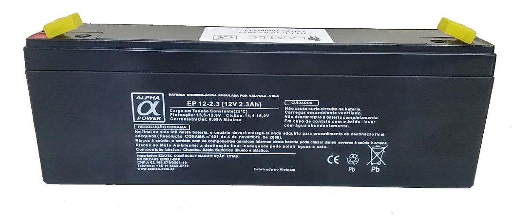 Bateria Selada VRLA 12V 2.3A ALPHA POWER