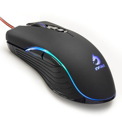 Mouse Gamer Soldado LED GM-V550 6.400dpi INFOKIT