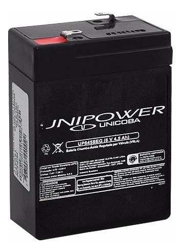 Bateria 6V 4,5Ah UP645SEG Unipower