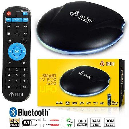 SMART TV BOX QUAD-CORE 2GB DDR3 +16GB EMMC 4K/ HDMI/ WI-FI ANDROID TVB-916G INFOKIT