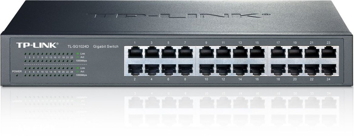 Switch 24 Portas Gigabit 1000Mbps TP-Link TL-SG1024D