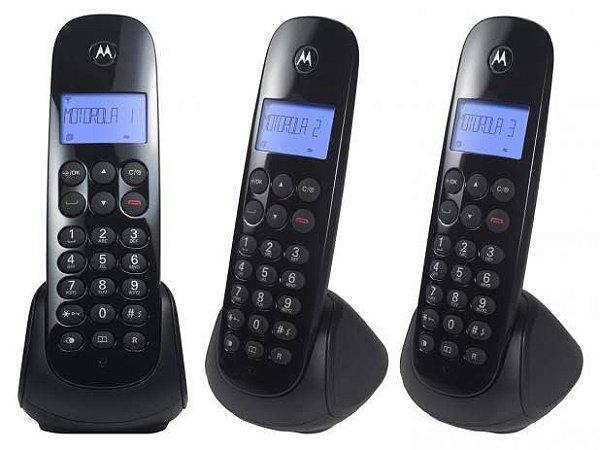 Telefone sem Fio Digital MRD3 + 2 Ramais MOTO700 Preto MOTOROLA