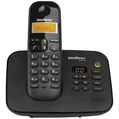 Telefone sem Fio TS313 c/ Identificador de Chamadas Preto INTELBRAS