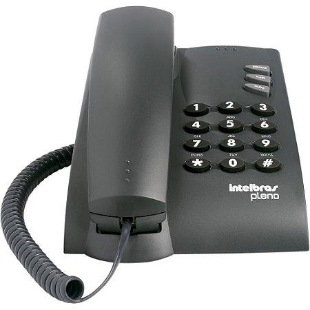 Telefone Pleno sem Chave Preto Intelbras