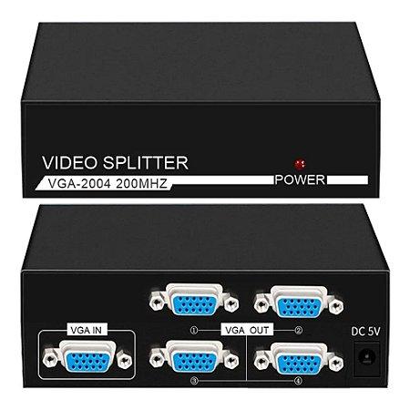 Spliter VGA 1 Entrada x 4 Saídas MTA-VIKI