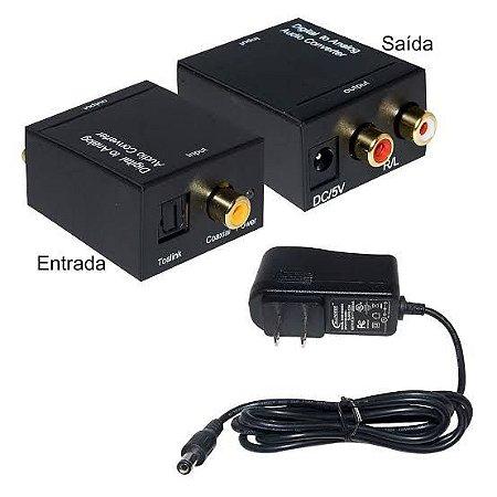 Conversor Audio Optico Digital x RCA Analógico