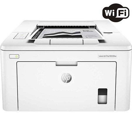 Impressora Laser Monocromática Wi-Fi Duplex M203DW PRO HP
