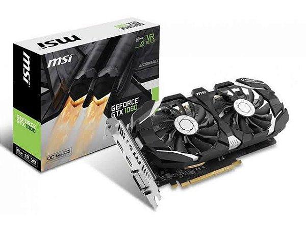 Placa de Vídeo Geforce GTX 1060 6GB GGDR5 192Bit Dual-Fans OC Edition DP/HDMI/DVI-D