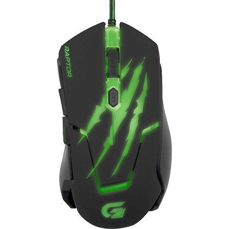 Mouse Gamer USB 3200dpi Raptor OM-801 Fortrek