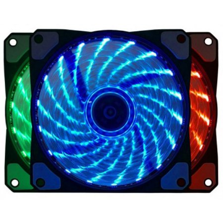 Cooler Gabinete Bluecase BF-06RGB 7 Cores 120x120mm