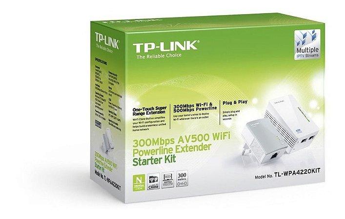 KIT Extensor PowerLine TL-WPA4220 300/500MBPS TP-LINK