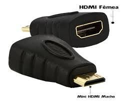 Conversor Mini HDMI Macho x HDMI Fêmea