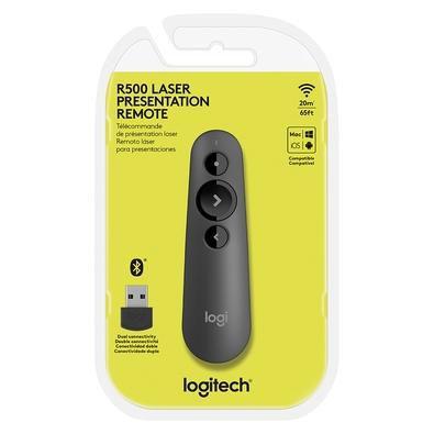 Apresentador Laser Logitech Sem Fio Bluetooth 20m R500