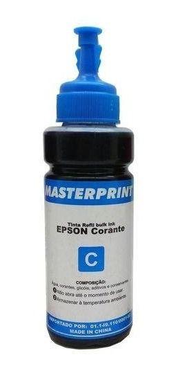 Refil de Tinta para Epson T673120 Ciano 100ml MASTERPRINT