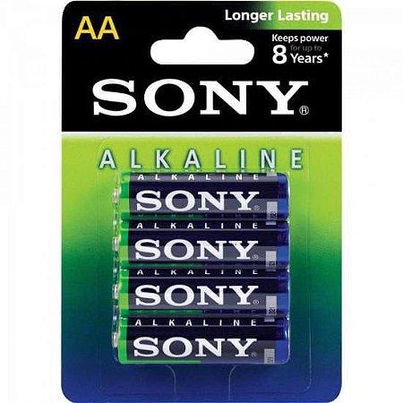 Pilha Alcalina Sony AM3L-B4D AA 4 Unidades