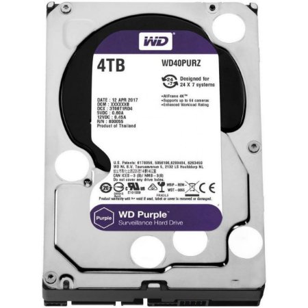 Hard Disk Westen Digital Purple 4TB DVR WD40PURZ