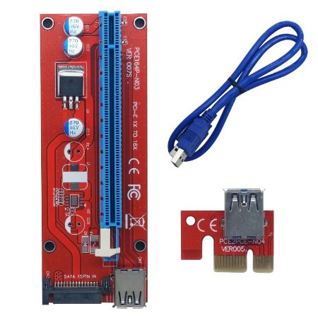 PCI-Express 1x A 16x Riser Card Usb 3.0 v0076