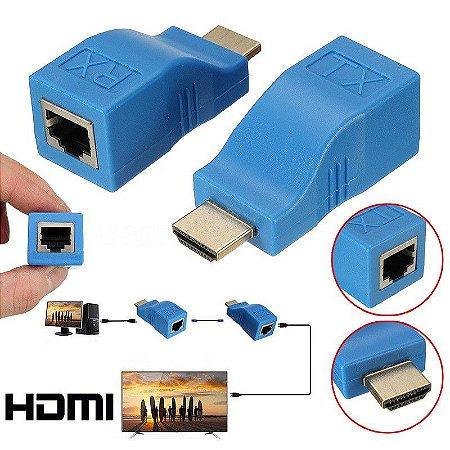 Extensor HDMI x RJ45 30 Metros CAT5e/CAT6