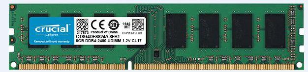 Memoria DDR4 8GB 2400Mhz Crucial