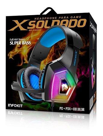 Headset Gamer RGB Microfone Articulado GH-X2000 Infokit