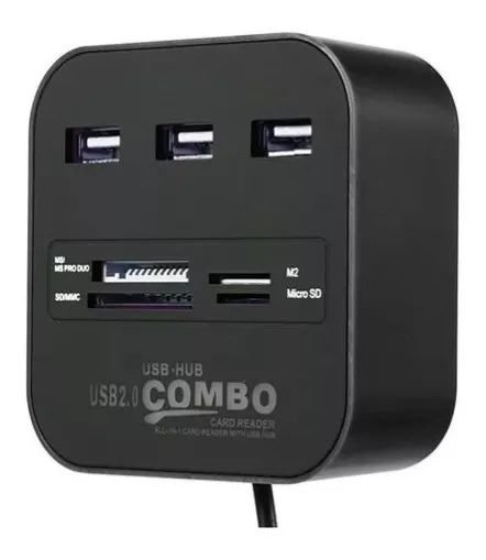 USB USB 2.0 Com Leitor de Cartões SD/MicroSD KP-T58 Knup