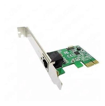 Placa de Rede 10/100/1000Mbps PCI-E 1x Realtek 8111E-S PCIE KP-T90 Knup