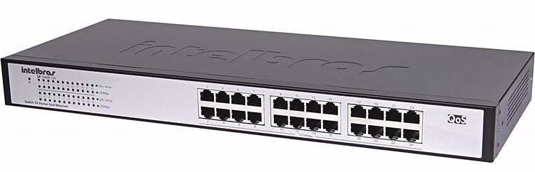 Switch Intelbras 24 Portas 10/100Mbps Fast Ethernet QOS SF2400QR+