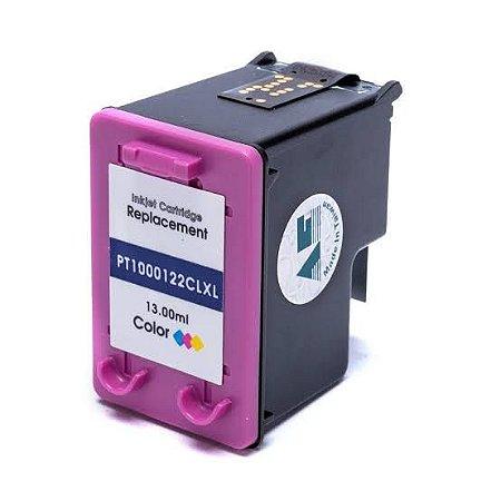 Cartucho de Tinta Compatível com HP 122XL Colorido 13ml