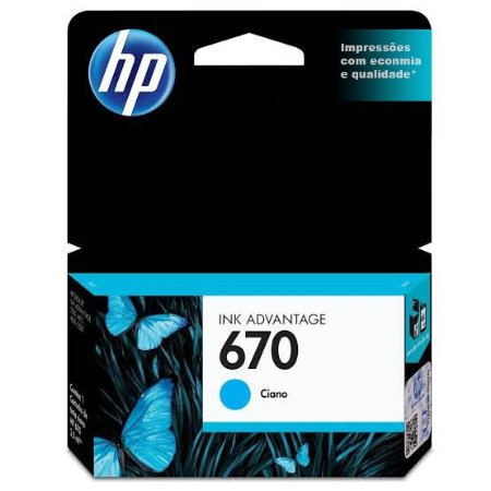 Cartucho Original HP 670 Ciano 3,5ml CZ114AB