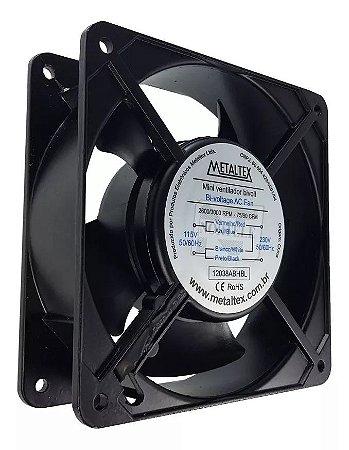 Cooler Ventilador Esfera 120x120mm BIVOLT Preto Alumínio