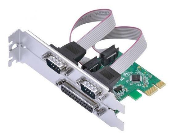 Placa PCI-E Express 2 Portas Serial 1 Paralela KP-T105 Knup