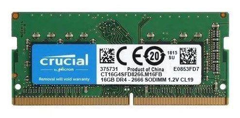 Memoria Notebook DDR4 16GB 2666MHz Crucial