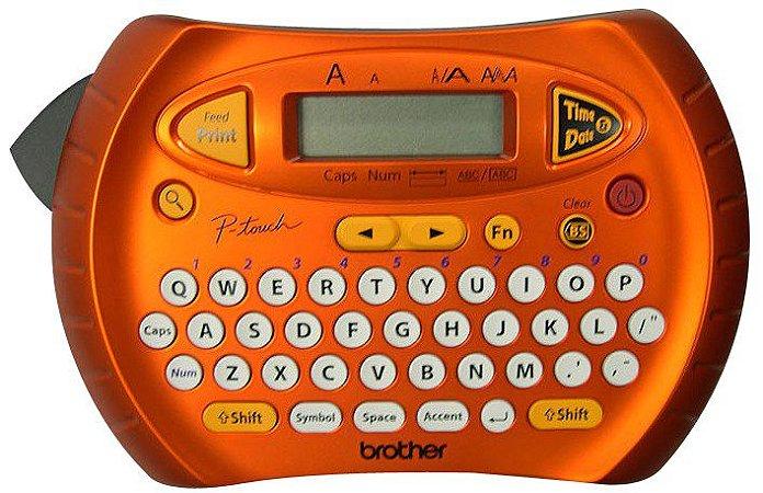 Rotulador Eletrônico Portátil Laranja Com Função Data/Hora PT-70 Brother