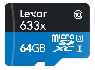 Cartão de Memória MicroSD 64GB Classe 10 UHS-I Lexar