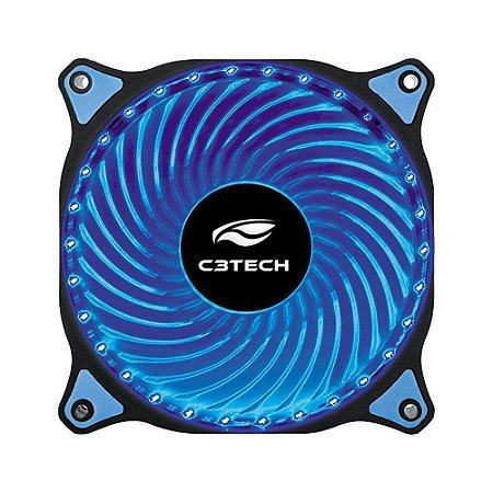 Cooler Gabinete C3Tech 120x120mm FT-L130BL LED Azul Storm Series