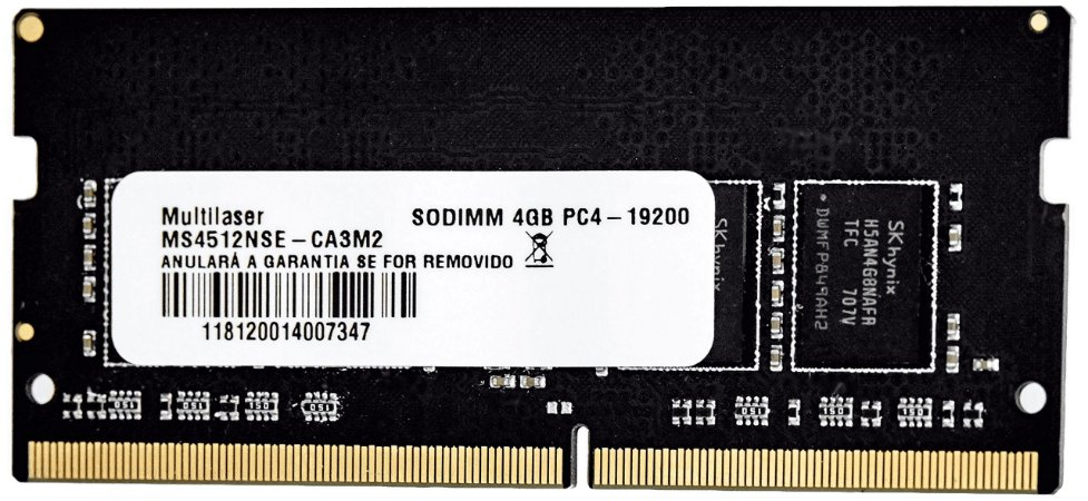 Memoria DDR4 4GB 2400MHz Multilaser