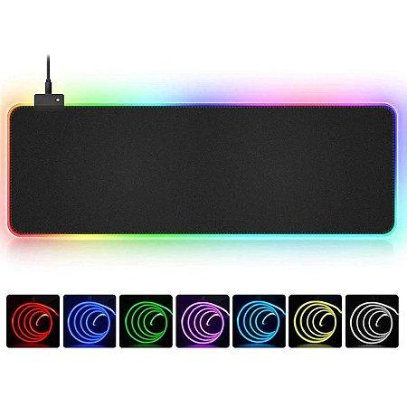 Mouse Pad Gamer RGB 11 Efeitos 800x300x4mm MP-LED3080 Exbom