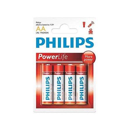 Pilha Philips Alcalina 1.5V Long Power LR6P4B