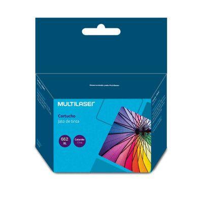 Cartucho Compatível HP 662XL Colorido 18ml CO662C Multilaser