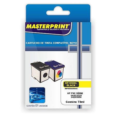 Cartucho Compatível HP 22/28/57 Universal Preto 14ml Masterprint