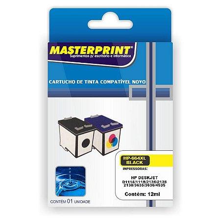Cartucho Compatível HP 664XL Colorido 12ml Masterprint