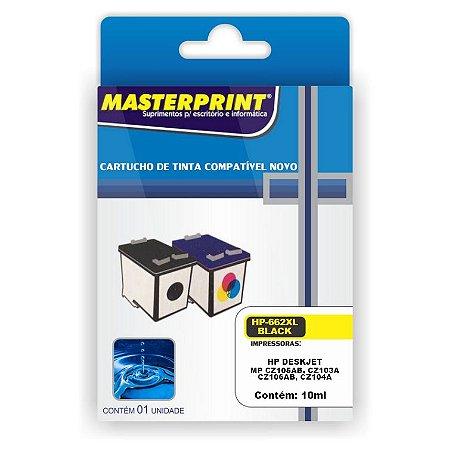 Cartucho Compatível HP 662XL Colorido 10ml Masterprint