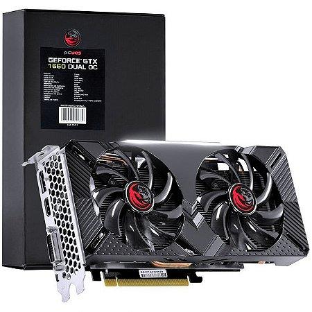 Placa de Vídeo GTX 1660 Dual OC 6GB DDR5 128bits DP/HDMI/DVI PP1660OC19206G5