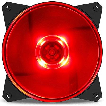 Cooler Gabinete MasterFan MF120L LED Vermelho CoolerMaster R4-C1DS-12FR-R1