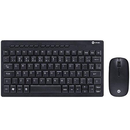 KIT Mini Teclado + Mouse Sem Fio Corp Flat DC120 Vinik